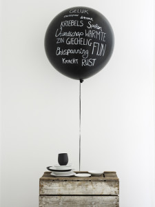 Courtesy of Anoukb Interior Blog - 90cm Black Balloon Decoration