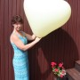 Giant Heart Balloons in Ivory