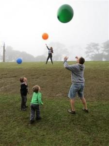 giant balloons outside