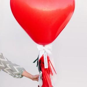 Giant heart balloon 90 cm