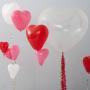 Giant heart balloon - clear