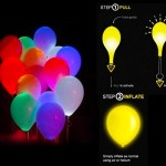Flashing LED light with balloon